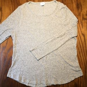 Soft Grey Ribbed Old Navy Sweater